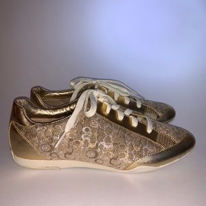 Coach gold sneakers size 9